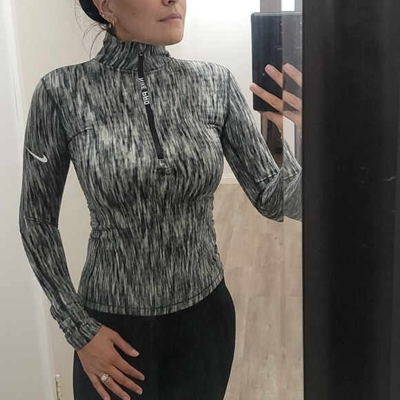 Nike workout zip pull over sweater